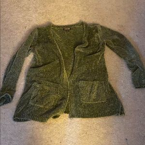 Selling a olive green cardigan